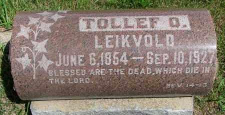 LEIKVOLD, TOLLEF O. - Clay County, South Dakota   TOLLEF O. LEIKVOLD - South Dakota Gravestone Photos