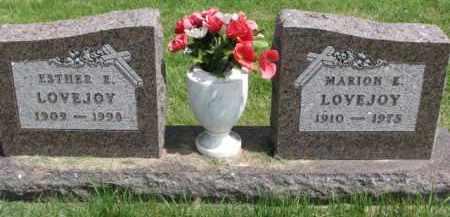 LOVEJOY, ESTHER E. - Clay County, South Dakota   ESTHER E. LOVEJOY - South Dakota Gravestone Photos