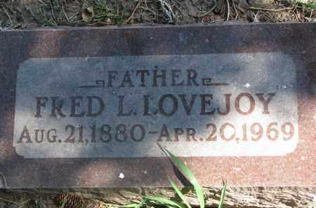 LOVEJOY, FRED L. - Clay County, South Dakota | FRED L. LOVEJOY - South Dakota Gravestone Photos
