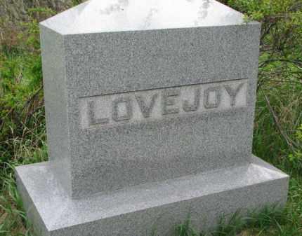 LOVEJOY, FAMILY STONE - Clay County, South Dakota   FAMILY STONE LOVEJOY - South Dakota Gravestone Photos