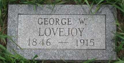 LOVEJOY, GEORGE W. - Clay County, South Dakota   GEORGE W. LOVEJOY - South Dakota Gravestone Photos