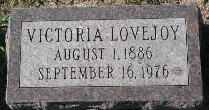 LOVEJOY, VICTORIA - Clay County, South Dakota | VICTORIA LOVEJOY - South Dakota Gravestone Photos