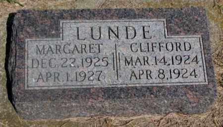 LUNDE, MARGARET - Clay County, South Dakota | MARGARET LUNDE - South Dakota Gravestone Photos