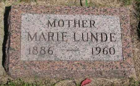 LUNDE, MARIE - Clay County, South Dakota | MARIE LUNDE - South Dakota Gravestone Photos