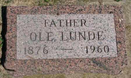 LUNDE, OLE - Clay County, South Dakota | OLE LUNDE - South Dakota Gravestone Photos