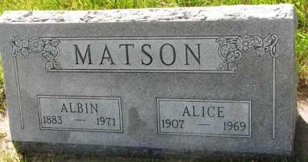 MATSON, ALICE - Clay County, South Dakota | ALICE MATSON - South Dakota Gravestone Photos