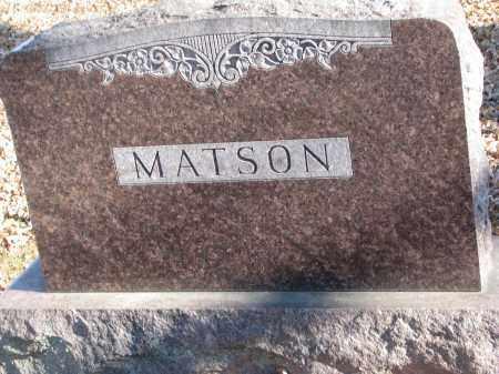 MATSON, FAMILY STONE - Clay County, South Dakota | FAMILY STONE MATSON - South Dakota Gravestone Photos