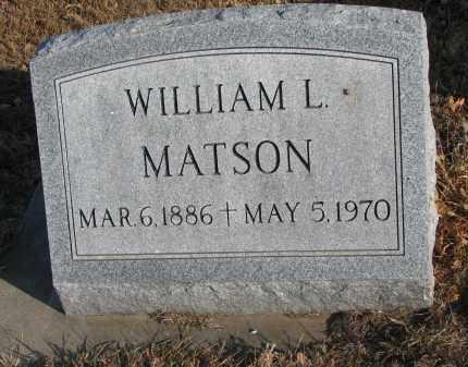 MATSON, WILLIAM L. - Clay County, South Dakota | WILLIAM L. MATSON - South Dakota Gravestone Photos