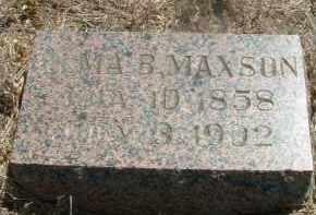 MAXSON, ALMA B. - Clay County, South Dakota | ALMA B. MAXSON - South Dakota Gravestone Photos