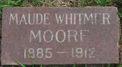WHITMER MOORE, MAUDE - Clay County, South Dakota | MAUDE WHITMER MOORE - South Dakota Gravestone Photos
