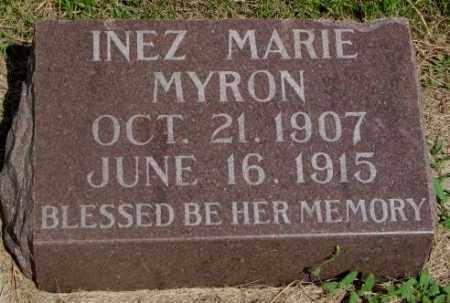 MYRON, INEZ MARIE - Clay County, South Dakota | INEZ MARIE MYRON - South Dakota Gravestone Photos