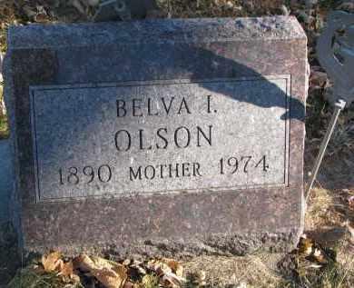OLSON, BELVA I. - Clay County, South Dakota | BELVA I. OLSON - South Dakota Gravestone Photos
