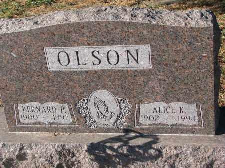 OLSON, BERNHARD P. - Clay County, South Dakota | BERNHARD P. OLSON - South Dakota Gravestone Photos