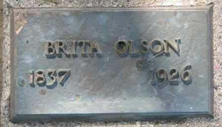 OLSON, BRITA - Clay County, South Dakota | BRITA OLSON - South Dakota Gravestone Photos