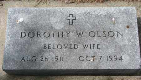 OLSON, DOROTHY W. - Clay County, South Dakota | DOROTHY W. OLSON - South Dakota Gravestone Photos