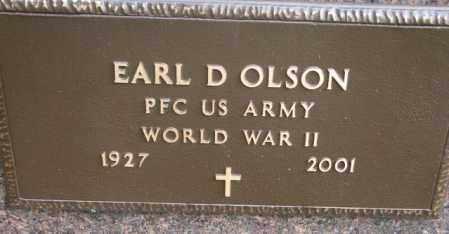 OLSON, EARL D. - Clay County, South Dakota | EARL D. OLSON - South Dakota Gravestone Photos