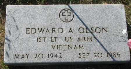 OLSON, EDWARD A. - Clay County, South Dakota | EDWARD A. OLSON - South Dakota Gravestone Photos