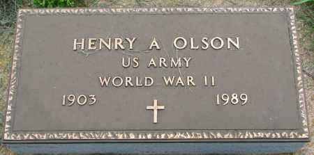 OLSON, HENRY A. (WW II) - Clay County, South Dakota   HENRY A. (WW II) OLSON - South Dakota Gravestone Photos