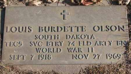 OLSON, LOUIS BURDETTE - Clay County, South Dakota | LOUIS BURDETTE OLSON - South Dakota Gravestone Photos