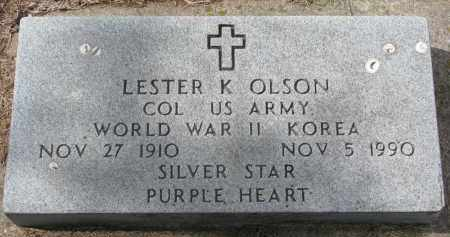 OLSON, LESTER K. - Clay County, South Dakota   LESTER K. OLSON - South Dakota Gravestone Photos