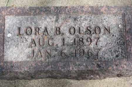 OLSON, LORA B. - Clay County, South Dakota | LORA B. OLSON - South Dakota Gravestone Photos