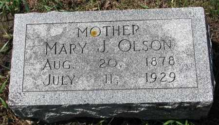 OLSON, MARY J. - Clay County, South Dakota | MARY J. OLSON - South Dakota Gravestone Photos