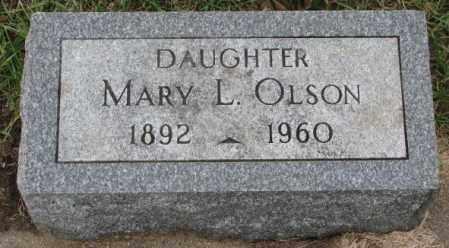 OLSON, MARY L. - Clay County, South Dakota   MARY L. OLSON - South Dakota Gravestone Photos