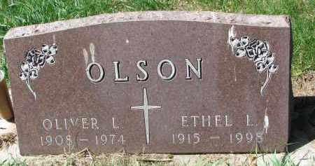 OLSON, ETHEL L. - Clay County, South Dakota | ETHEL L. OLSON - South Dakota Gravestone Photos