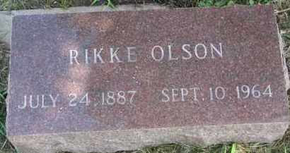 OLSON, RIKKE - Clay County, South Dakota | RIKKE OLSON - South Dakota Gravestone Photos