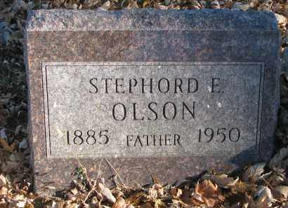 OLSON, STEPHORD E. - Clay County, South Dakota | STEPHORD E. OLSON - South Dakota Gravestone Photos