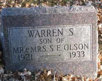 OLSON, WARREN S. - Clay County, South Dakota | WARREN S. OLSON - South Dakota Gravestone Photos