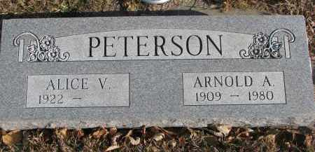 PETERSON, ALICE V. - Clay County, South Dakota | ALICE V. PETERSON - South Dakota Gravestone Photos