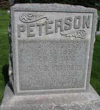 PETERSON, ANNA S. - Clay County, South Dakota | ANNA S. PETERSON - South Dakota Gravestone Photos