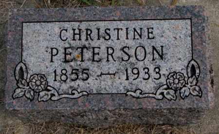 PETERSON, CHRISTINE - Clay County, South Dakota | CHRISTINE PETERSON - South Dakota Gravestone Photos