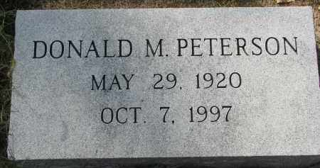 PETERSON, DONALD M. - Clay County, South Dakota   DONALD M. PETERSON - South Dakota Gravestone Photos