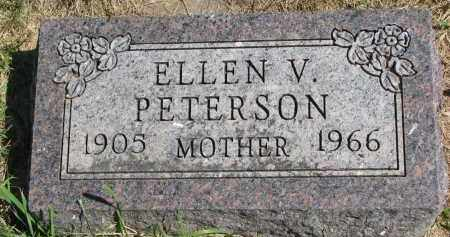 PETERSON, ELLEN V. - Clay County, South Dakota | ELLEN V. PETERSON - South Dakota Gravestone Photos