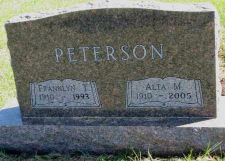 PETERSON, FRANKLYN T. - Clay County, South Dakota | FRANKLYN T. PETERSON - South Dakota Gravestone Photos