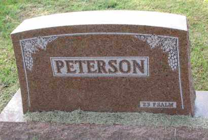 PETERSON, FAMILY STONE - Clay County, South Dakota   FAMILY STONE PETERSON - South Dakota Gravestone Photos