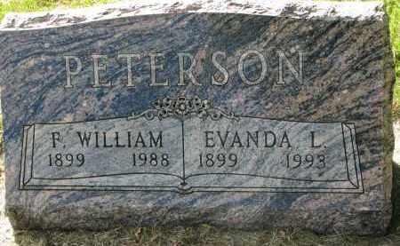 PETERSON, F. WILIAM - Clay County, South Dakota | F. WILIAM PETERSON - South Dakota Gravestone Photos