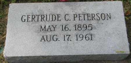 PETERSON, GERTRUDE C. - Clay County, South Dakota | GERTRUDE C. PETERSON - South Dakota Gravestone Photos