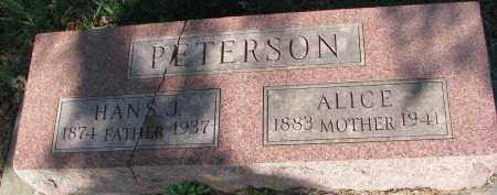 PETERSON, HANS J. - Clay County, South Dakota | HANS J. PETERSON - South Dakota Gravestone Photos