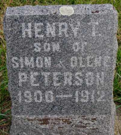 PETERSON, HENRY T. - Clay County, South Dakota   HENRY T. PETERSON - South Dakota Gravestone Photos