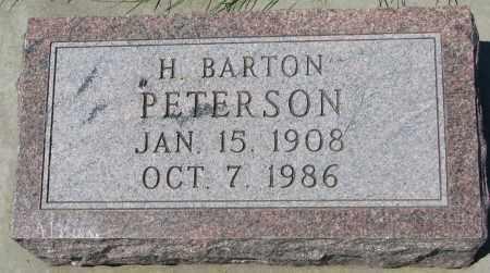 PETERSON, H. BARTON - Clay County, South Dakota   H. BARTON PETERSON - South Dakota Gravestone Photos