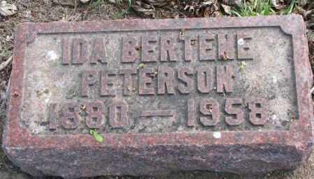 PETERSON, IDA BERTENE - Clay County, South Dakota | IDA BERTENE PETERSON - South Dakota Gravestone Photos