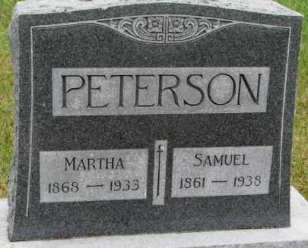 PETERSON, MARTHA - Clay County, South Dakota   MARTHA PETERSON - South Dakota Gravestone Photos