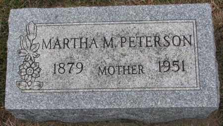 PETERSON, MARTHA M. - Clay County, South Dakota | MARTHA M. PETERSON - South Dakota Gravestone Photos
