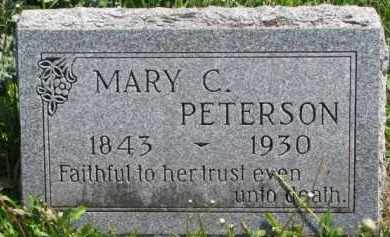 PETERSON, MARY C. - Clay County, South Dakota | MARY C. PETERSON - South Dakota Gravestone Photos