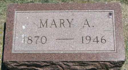 PETERSON, MARY A. - Clay County, South Dakota   MARY A. PETERSON - South Dakota Gravestone Photos