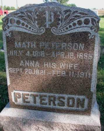 PETERSON, MATH - Clay County, South Dakota | MATH PETERSON - South Dakota Gravestone Photos