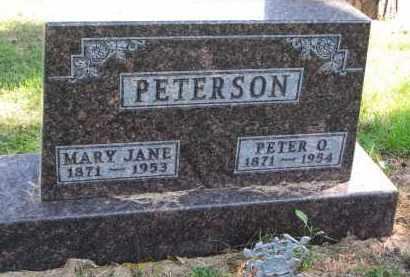 PETERSON, MARY JANE - Clay County, South Dakota | MARY JANE PETERSON - South Dakota Gravestone Photos